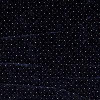 Fluweel Velvet navy gold dots