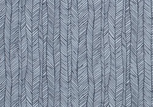 De Stoffenkamer Rekbare badstof - spons lichtblauw fishbones