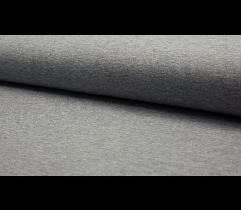 Effen Sweaterstof Light Grey Melange