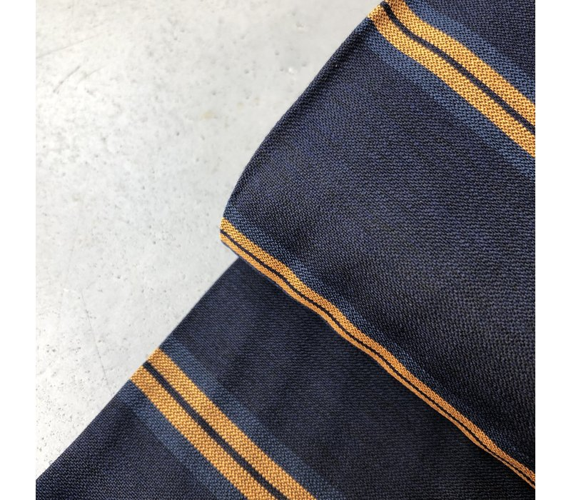 Viscose Mix Dark Blue Oker twill