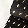 Tricot Foilprint lightning black gold
