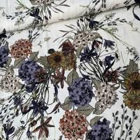Babyrib velvet flowers white
