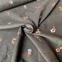 Babyrib velvet flowers grey