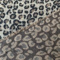 Geweven jacquard wolmix Leopard