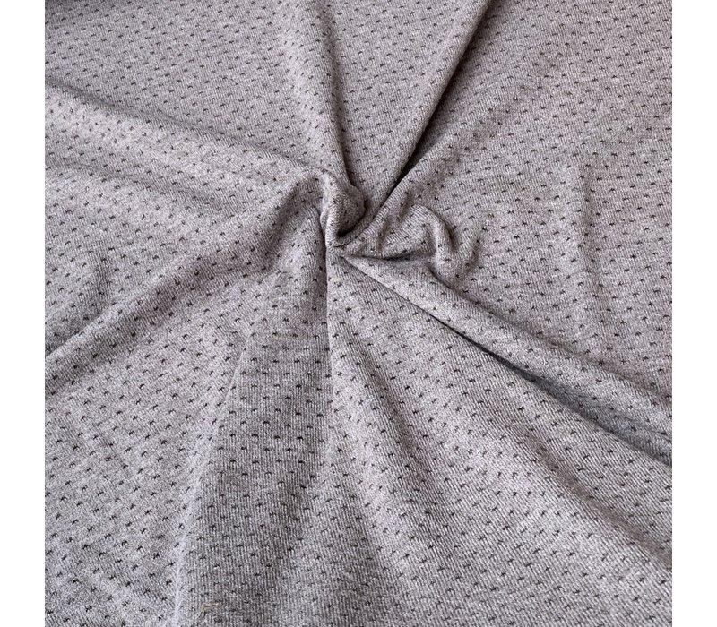 Soft viscose sweater taupe lurex