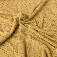 Soft viscose sweater oker lurex