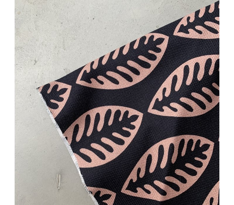 Canvas Navy Pink leafs