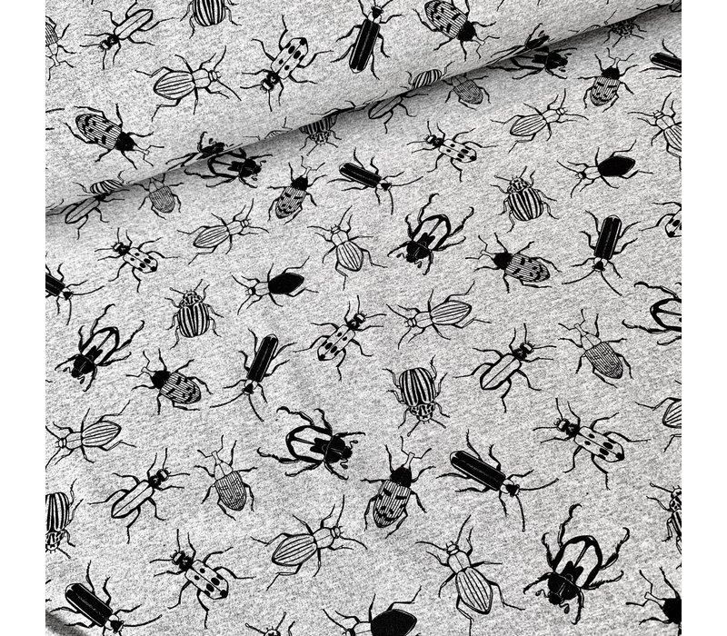 French terry - melange grey bugs