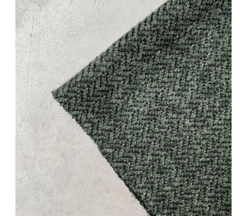 Sweater Herringbone tweed green