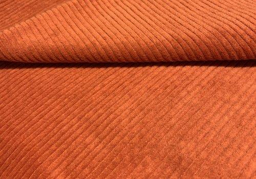De Stoffenkamer Ribfluweel Met Brede Ribbel Rusty Orange
