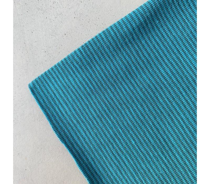 Tricot Mini stripes Turcquoise petrol