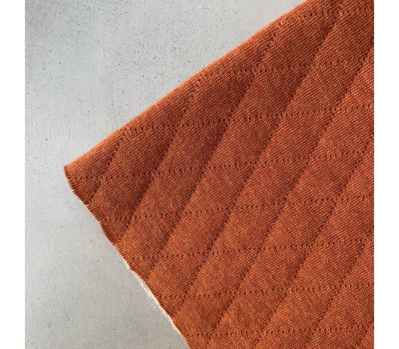 Geruite Sweaterstof Roest Melange