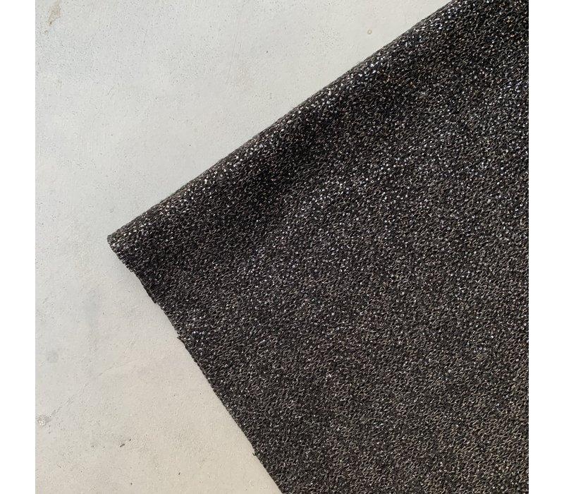 Breisel glitter zwart zilver