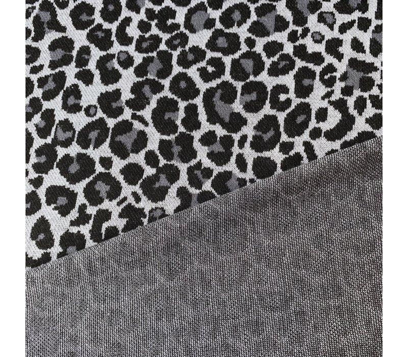 Jacquard Tricot Leopard Grey