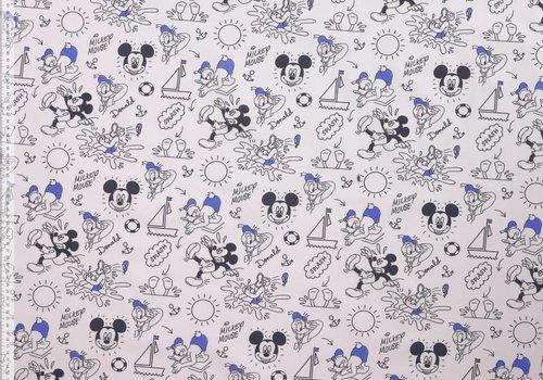 Katoen Mickey & Donald Blue