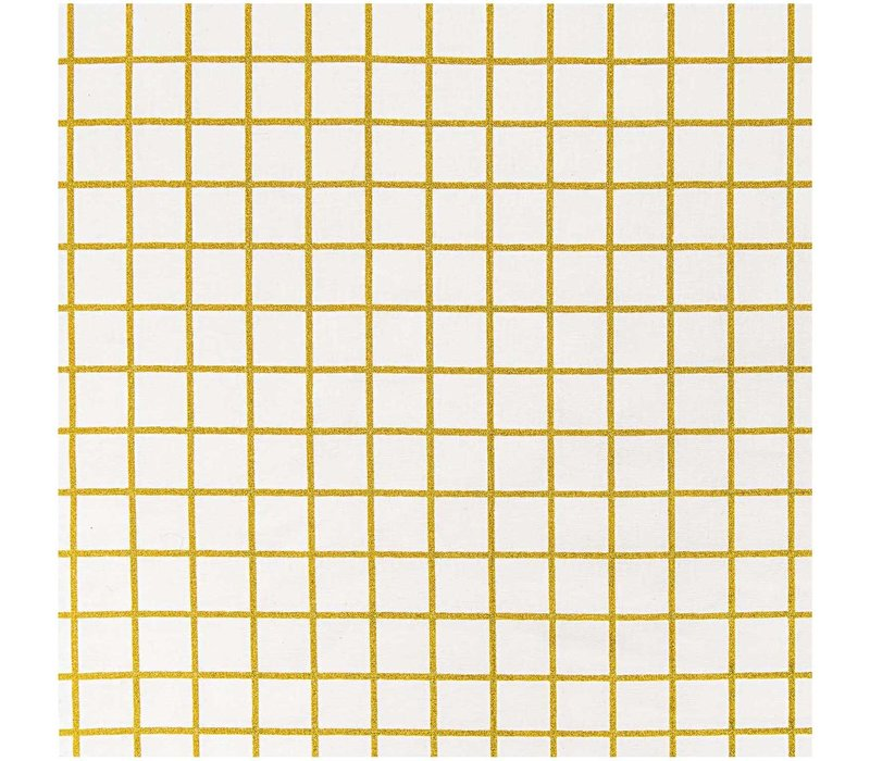 Gelamineerd Katoen Gold Grid