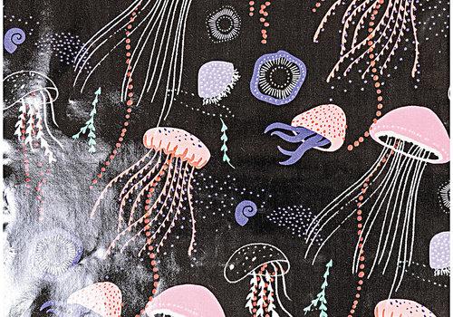 De Stoffenkamer Gelamineerd Katoen Jellyfish