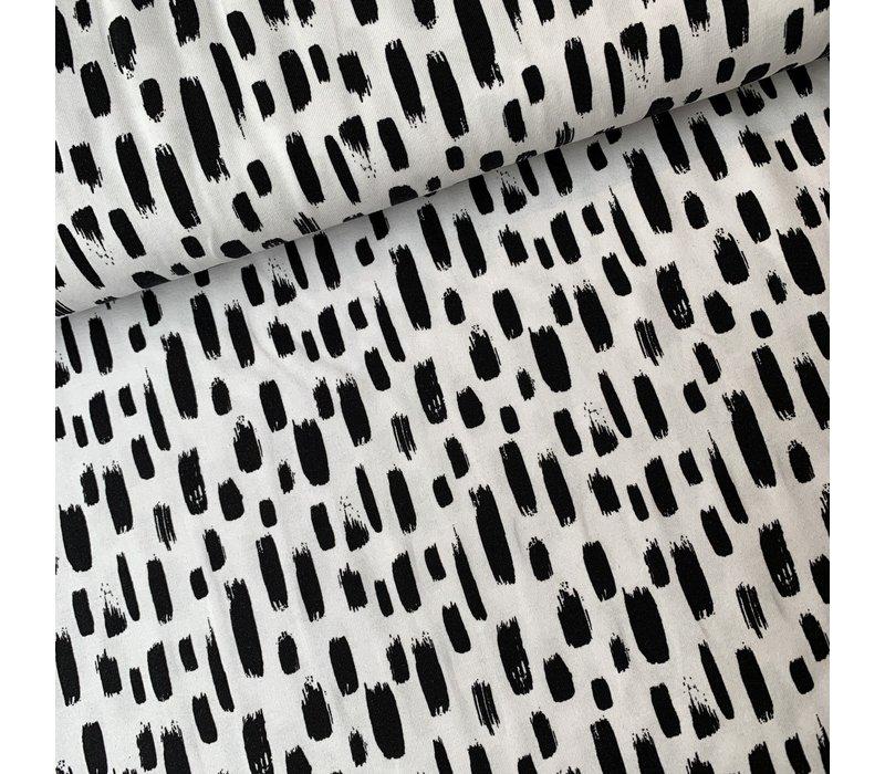 Tricot White Black strokes