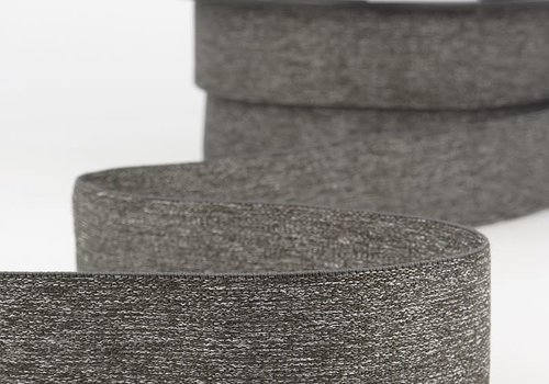 De Stoffenkamer Taille Elastiek 32mm Grey Melange