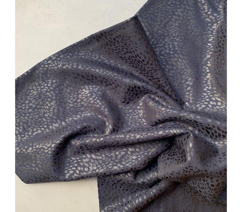 Punta dark blue snakeskin