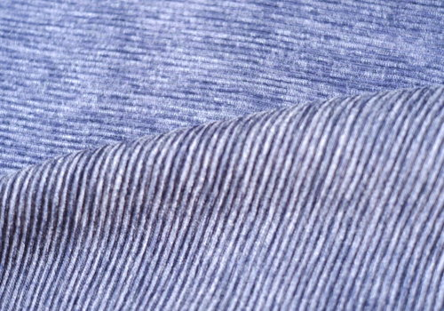 De Stoffenkamer Ribbed Sweater Plisse Denim Blue