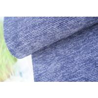 Ribbed Sweater Plisse Denim Blue