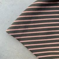 Sweater Diagonal stripes Grey Pink