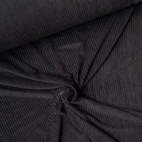 Stretch rib Met Brede Ribbel zwart