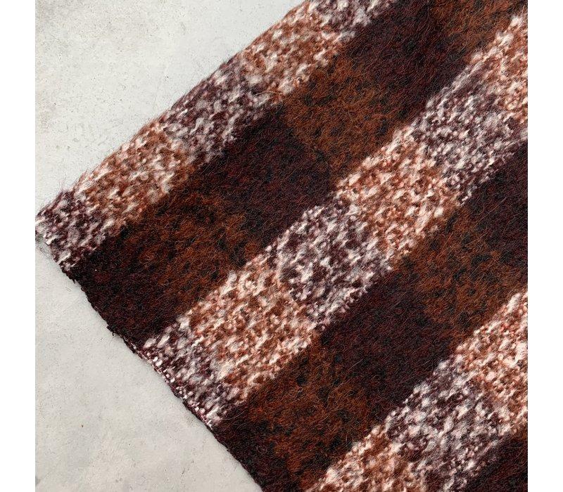 Wol mix Checks Rust/Burgundy