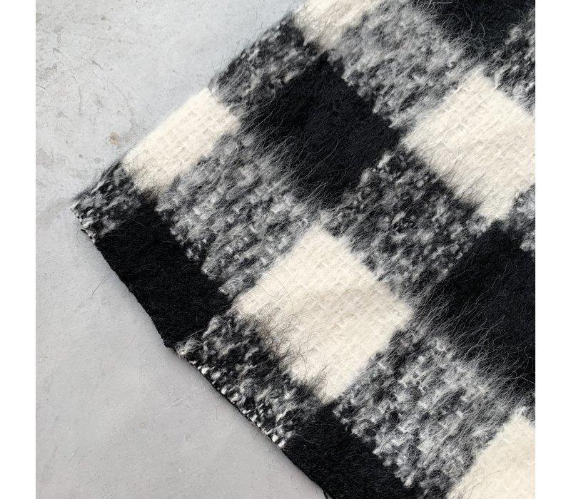 Wol mix Checks Black//white