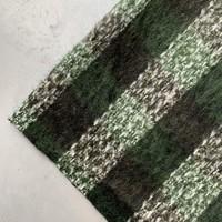 Wol mix Checks Khaki//grass