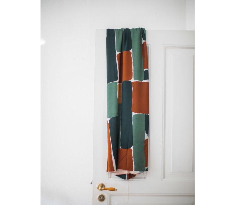 Viscose Twill - brick green/rust