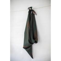 Viscose Twill - Sticks Green Rust