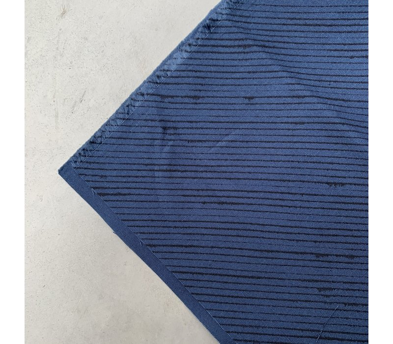 Ebb & Flow Diagonal Lines blue dark navy