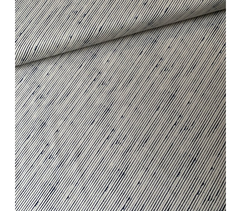 Ebb & Flow diagonal lines navy ecru