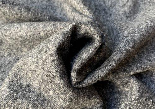 De Stoffenkamer Wol Mix Tweed light grey