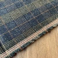 Wol Mix Tweed Checks Navy