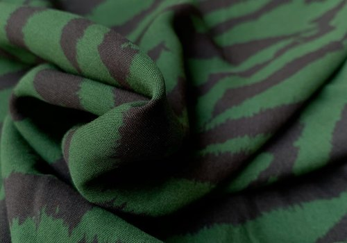 Blouse Viscose Greenish Zebra
