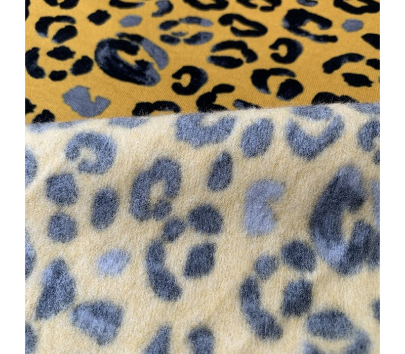 Warm Sweater ocre leopard