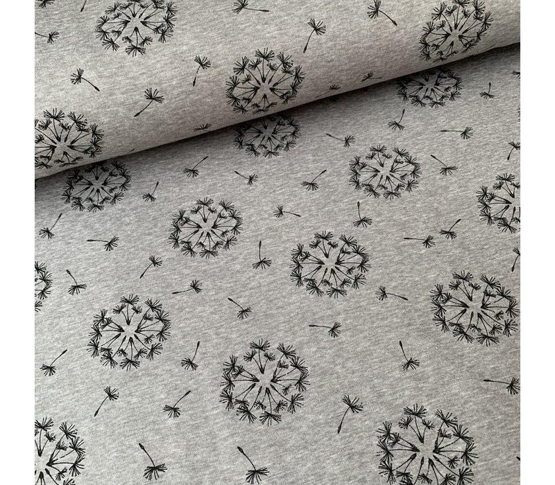 Warm Sweater grey dandelions