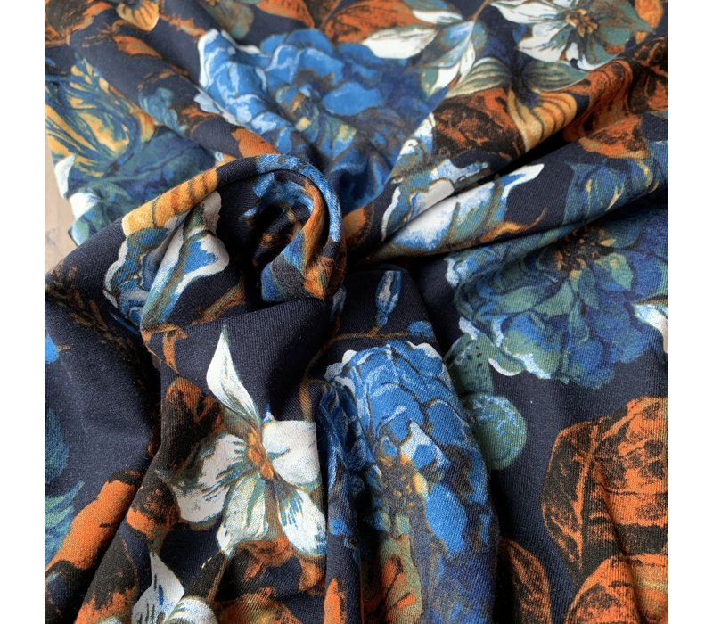 Viscose Tricot Fall flowers