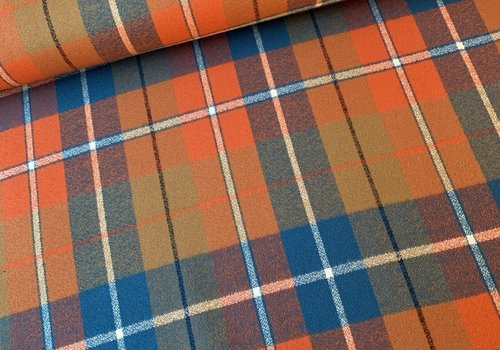 Robert Kaufman Flanel Mammoth Checks orange