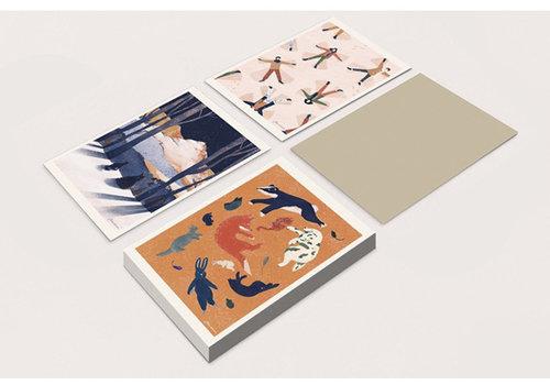 De Stoffenkamer WARMSTE WEEK - set van 3 postkaarten voor paus vzw