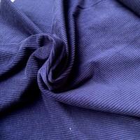 Ribfluweel Met Brede Ribbel denim blue