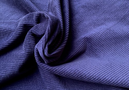 De Stoffenkamer Ribfluweel Met Brede Ribbel denim blue