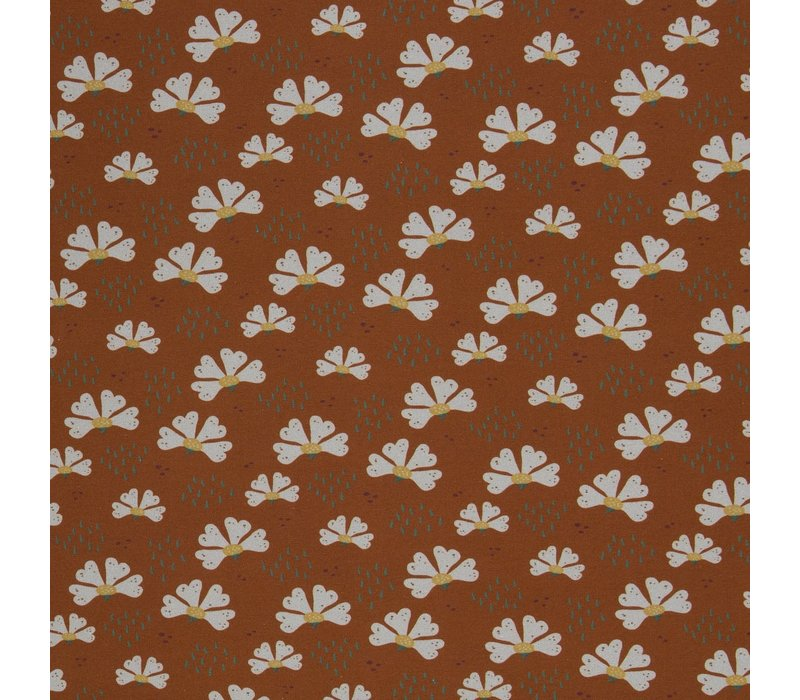 Soft Sweater Rust Flowers
