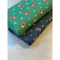 Tricot Blue Christmas reindeer
