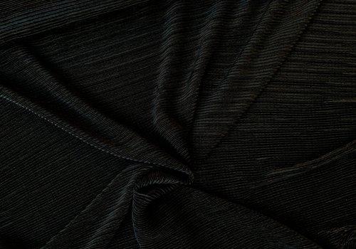 De Stoffenkamer Semi Plissé Black