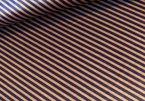 La Maison Victor Fluweel Velvet stripes oker blue