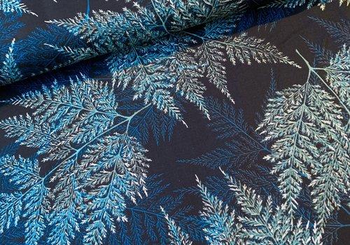 Hoffman Cotton Winter Branches Metallic Silver
